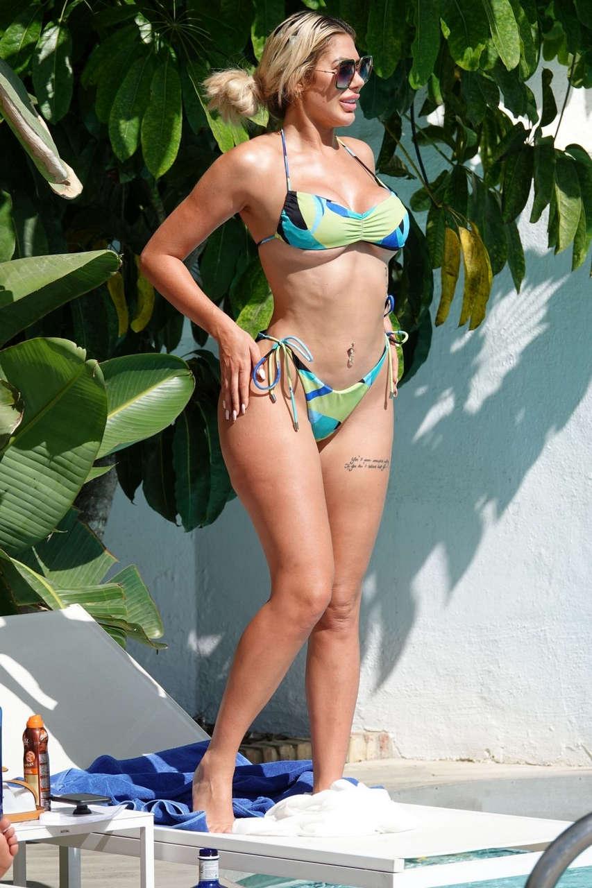 Chloe Ferry Bethan Kershaw Bikinis Pool Spain