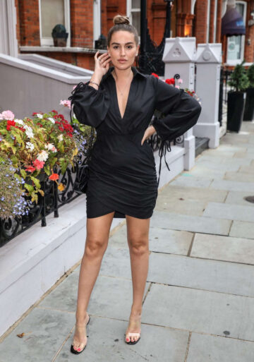 Chloe Ross Out To Dinner London