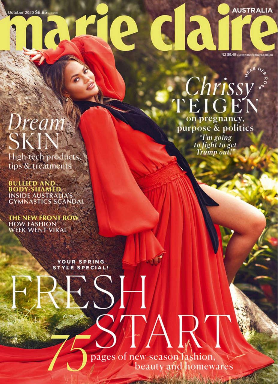 Chrissy Teigen Marie Claire Magazine Australia October
