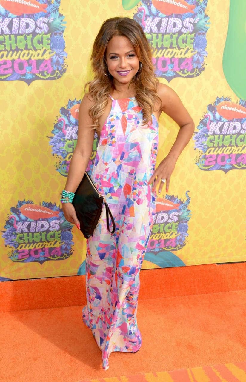 Christina Milian 2014 Nickelodeons Kids Choice Awards Los Angeles