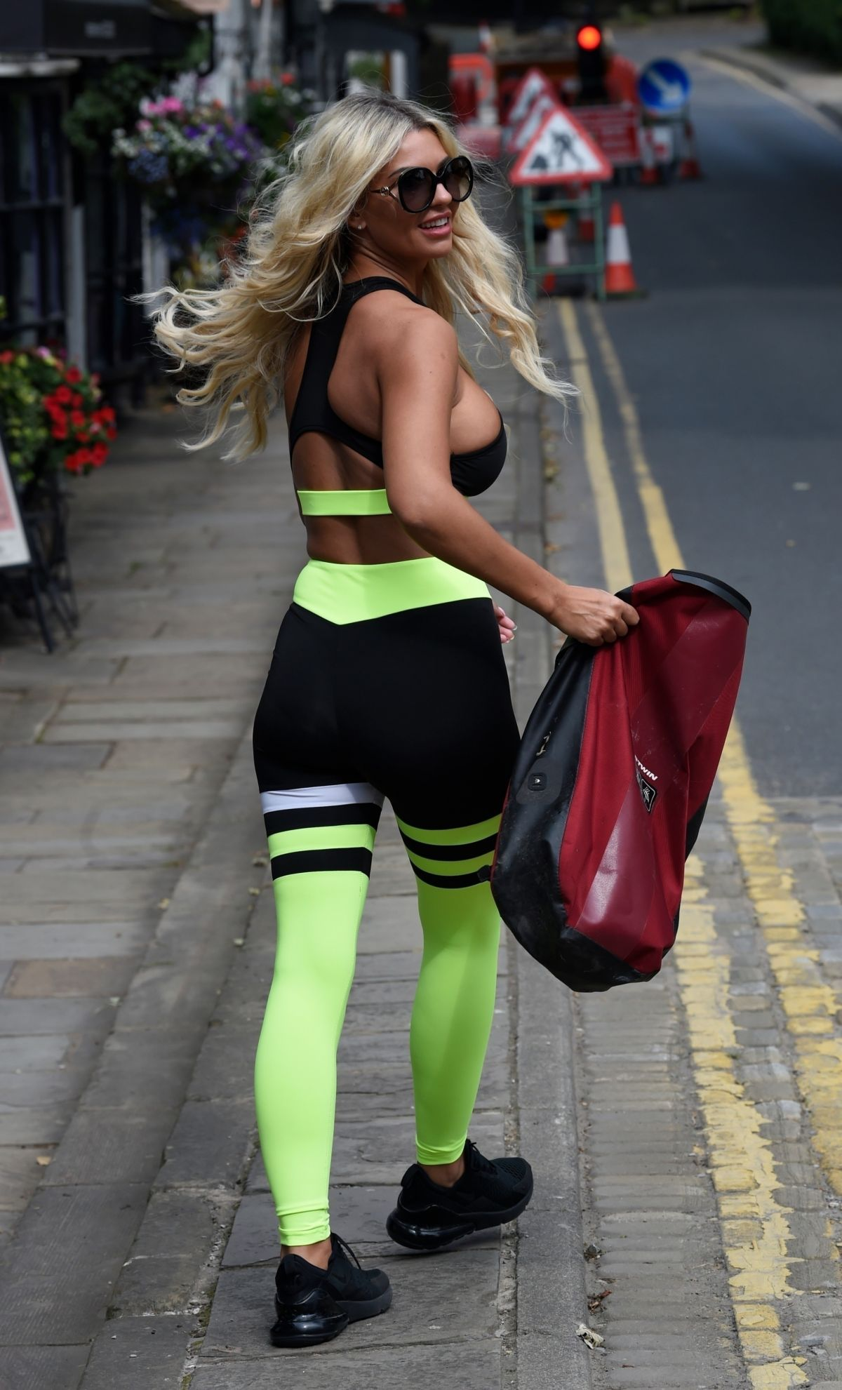 Christine Mcguinness Out Jogging Cheshire