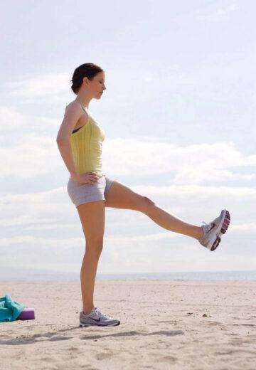Chyler Leigh Workout Beach