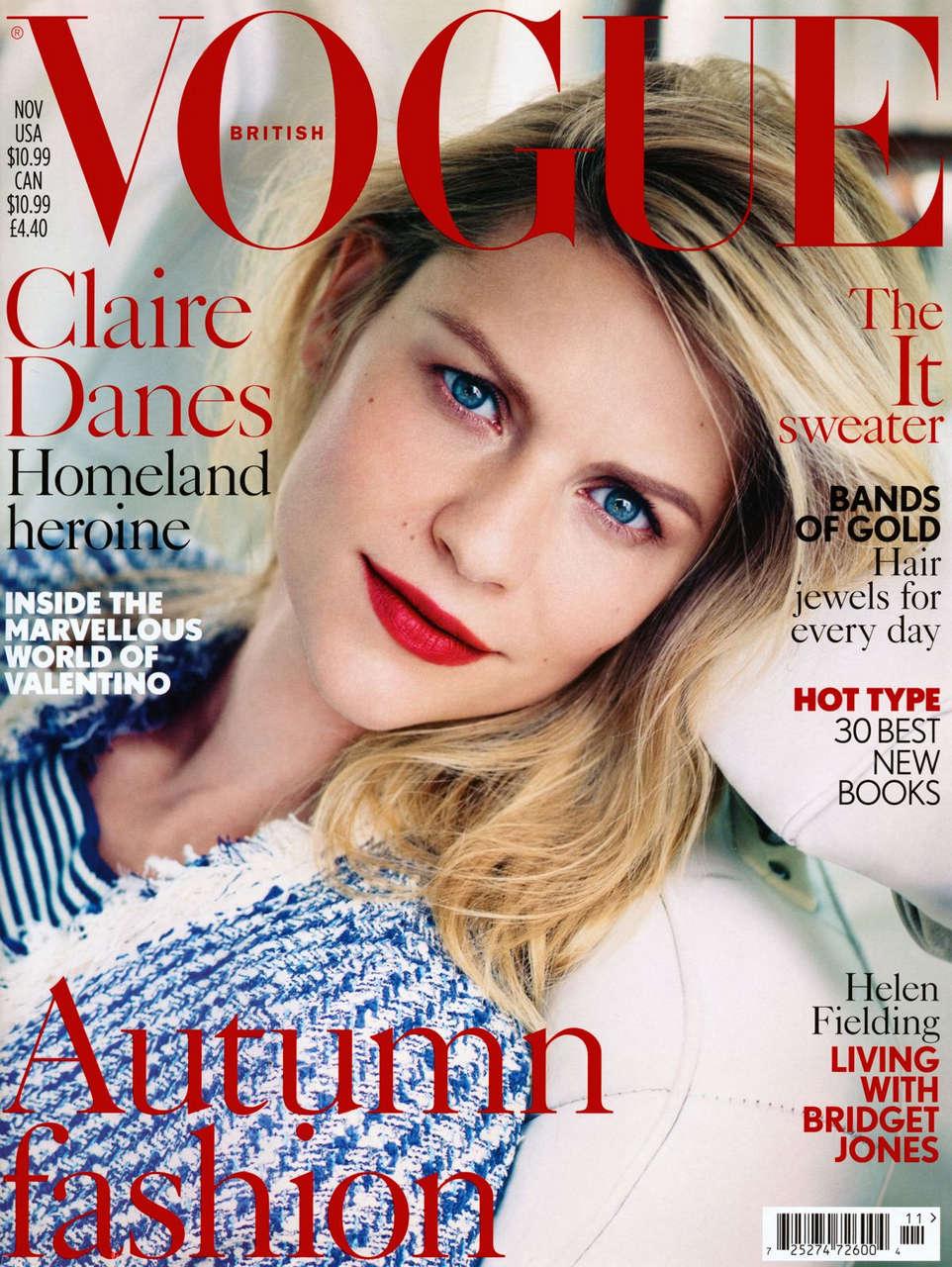 Claire Danes Vogue Magazine Uk November 2013 Issue