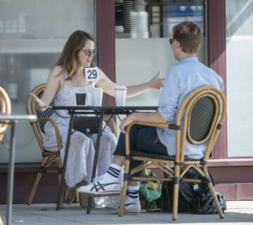 Claire Foy Out For Coffee Hampstead