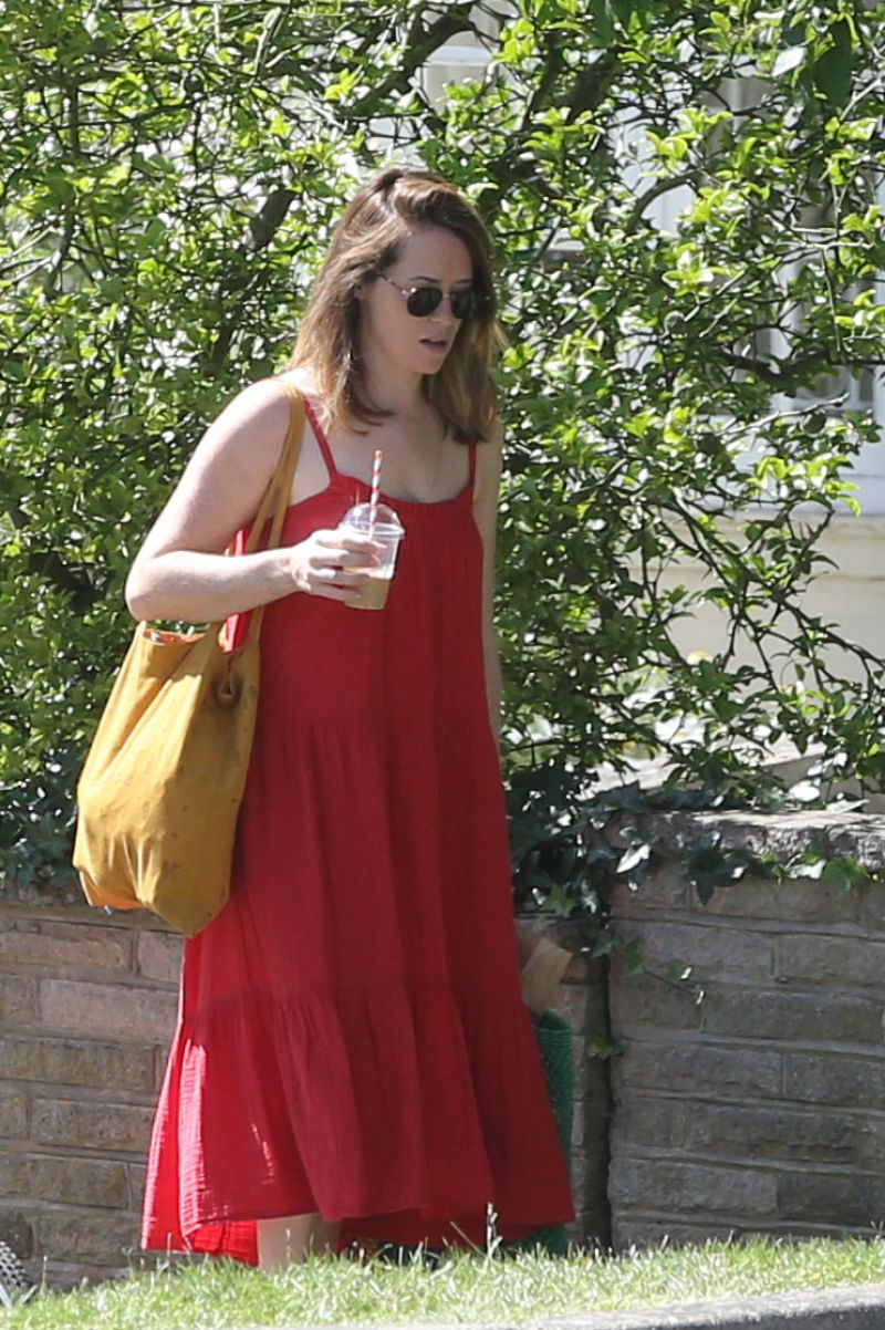 Claire Foy Out Shopping London