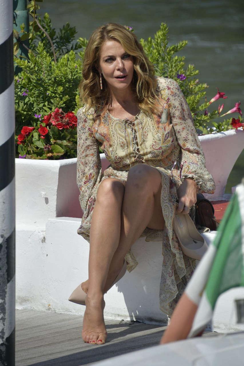 Claudia Gerini Arrives Hotel Excelsior Venice