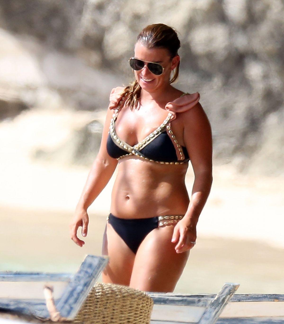 Coleen Rooney Bikini Beach Barbados