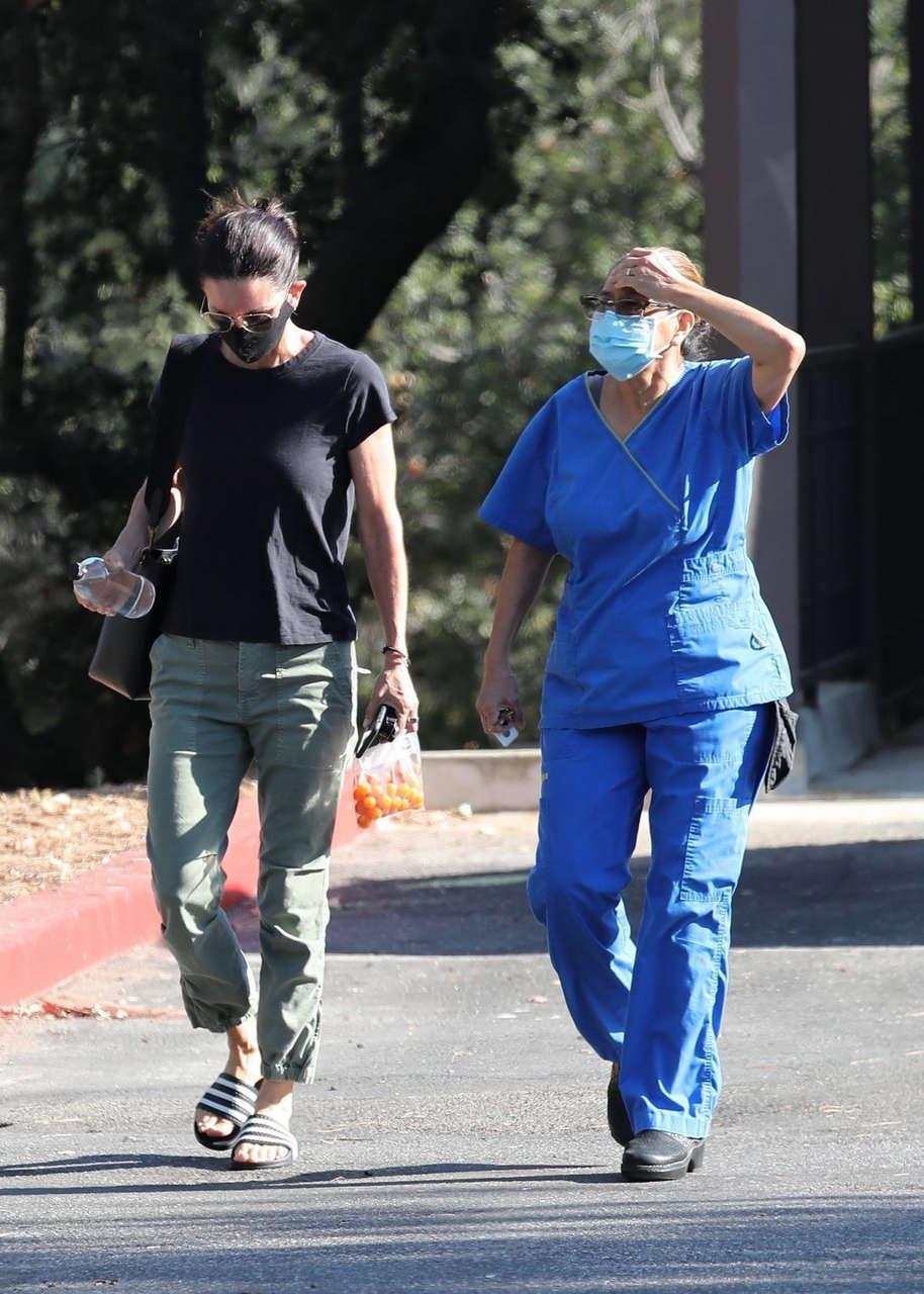 Courteney Cox Leaves Doctors Office Malibu