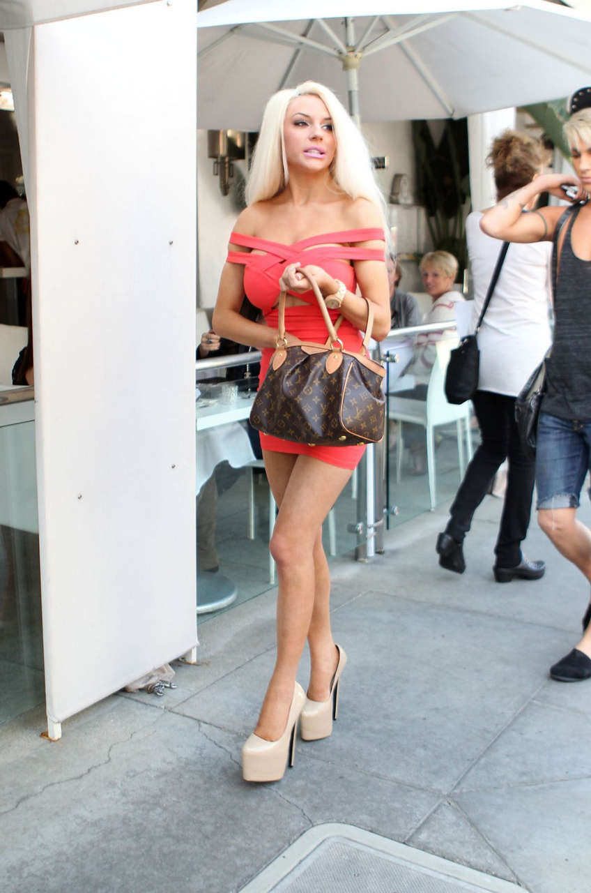 Courtney Stodden Tight Dress Out Beverly Hills