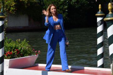 Cristiana Capatondi Arrives Hotel Excelsior Venice