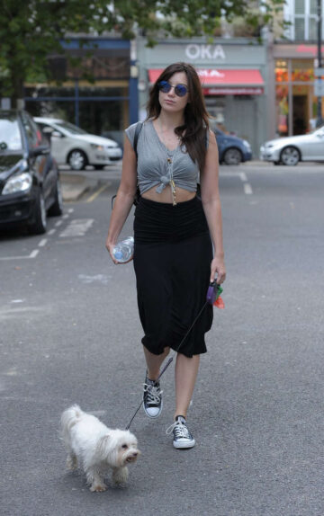 Daisy Lowe Walks Ger Dog Out Primrose Hill