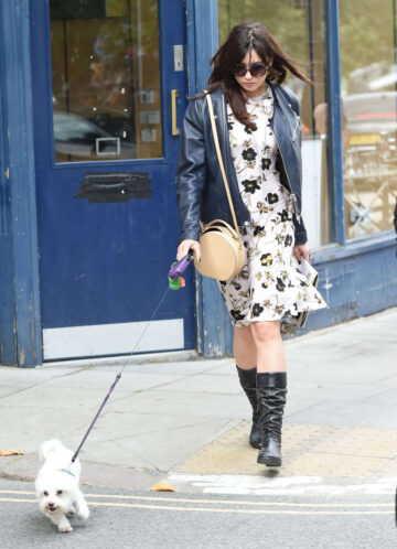 Daisy Lowe Walks Her Dog Out Primrose Hill