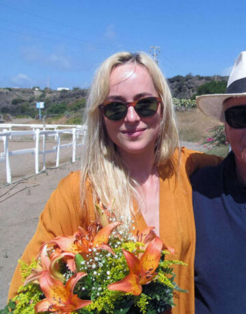 Dakota Johnson Equestrian Center Pantelleria Italy