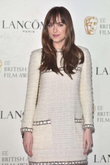 Dakota Johnson Lancome Bafta 2016 Nominees Party London