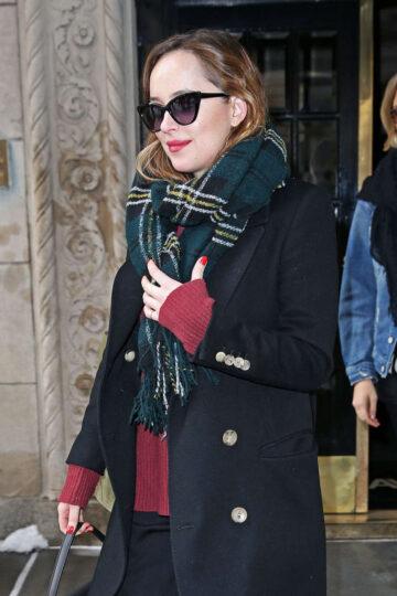 Dakota Johnson Leaves Her Apartment New York