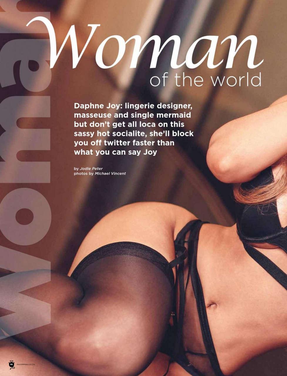 Daphne Joy Maxim Magazine South Africa March 2014 Issue