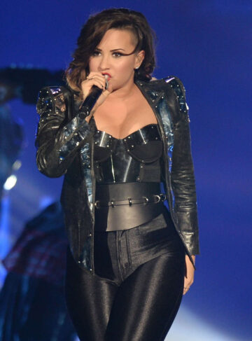Demi Lovato Spandex Performs Neon Lights Tour Miami
