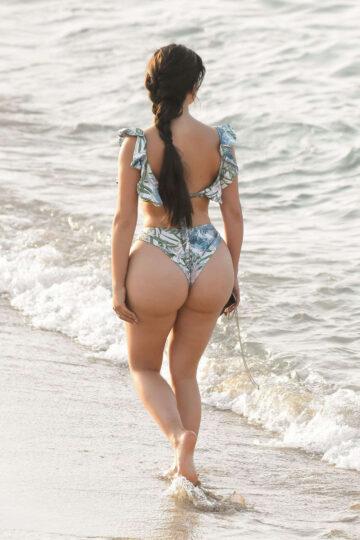 Demi Rose Bikini Beach Spain
