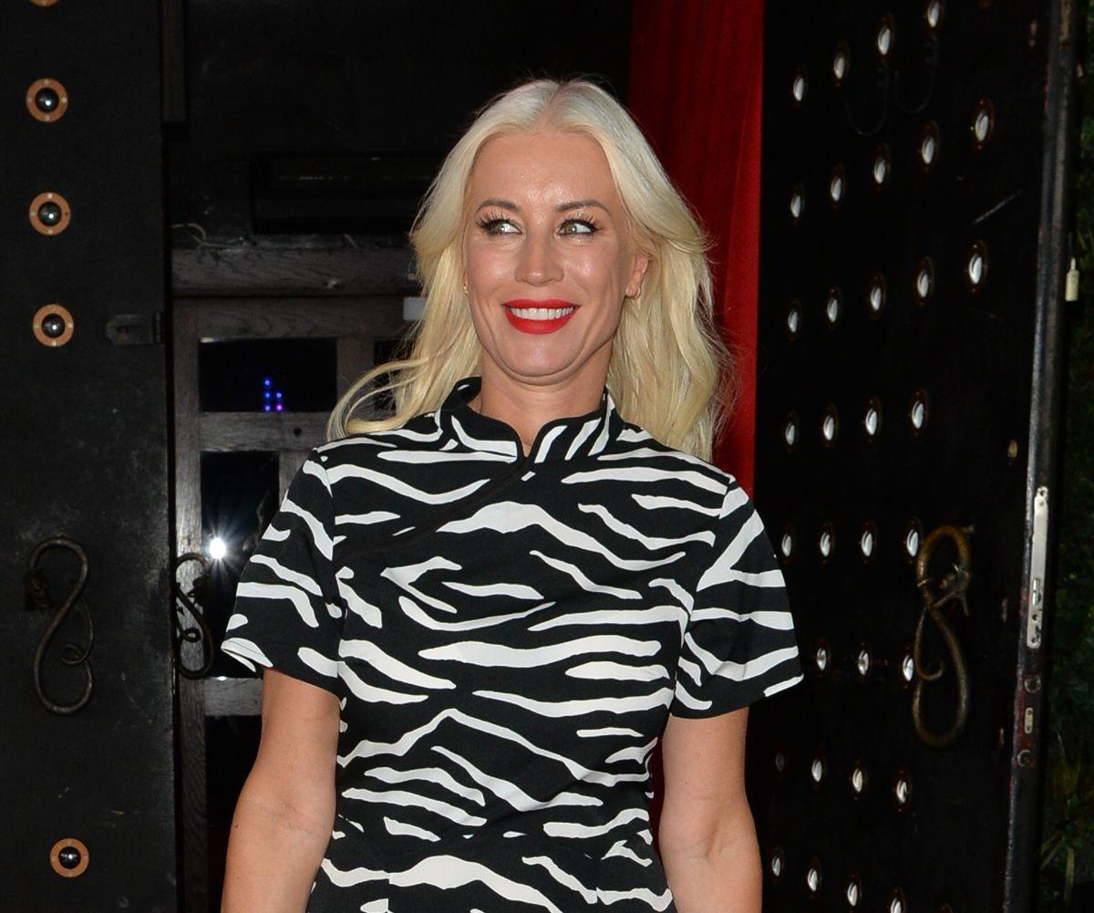 Denise Van Outen Leaves Proud Embankment London