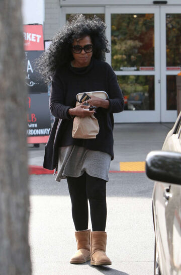 Diana Ross Leaves Bristol Farms Beverly Hills