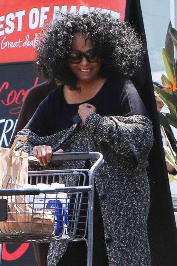 Diana Ross Shopping Bristol Farms Beverly Hills