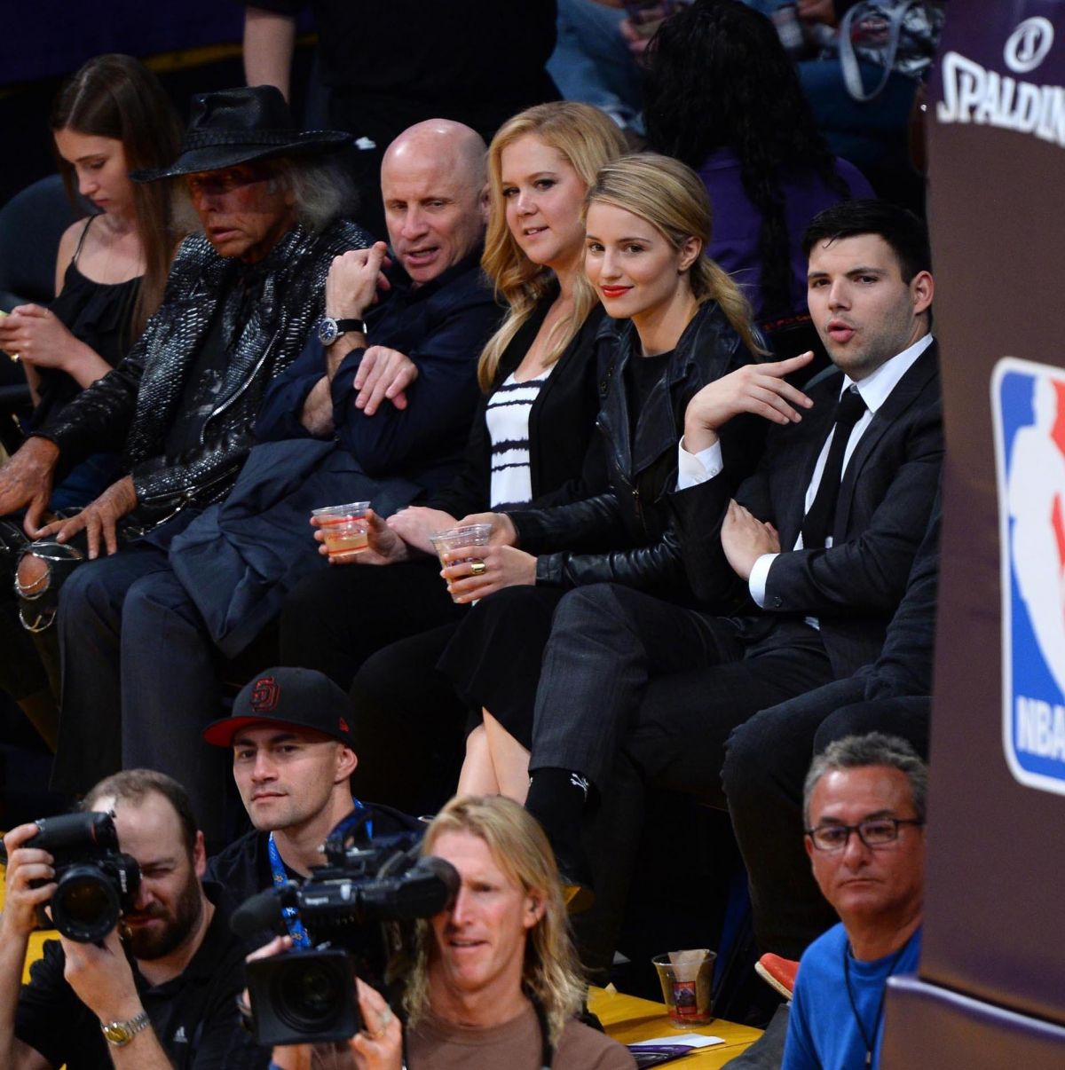 Dianna Agron Lakers Game Los Angeles