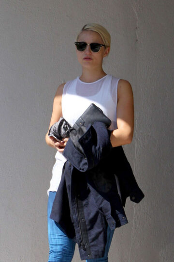 Dianna Agron Leggings Out West Hollywood