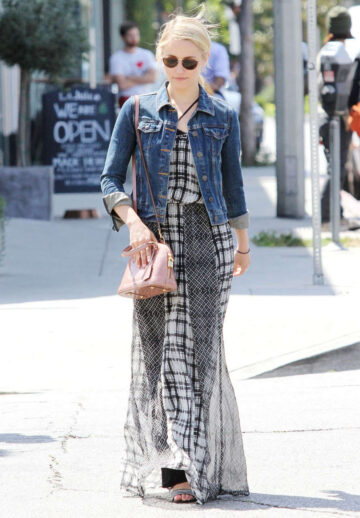 Dianna Agron Out For Lunch Los Angeles
