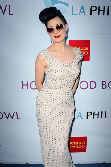 Dita Von Teese 2014 Hollywood Bowl Opening Might Hall Fame Inductions