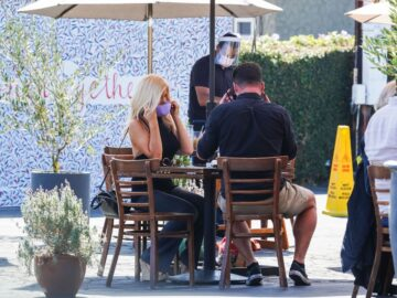 Donna D Errico Out For Lunch Mauro Cafe West Hollywood
