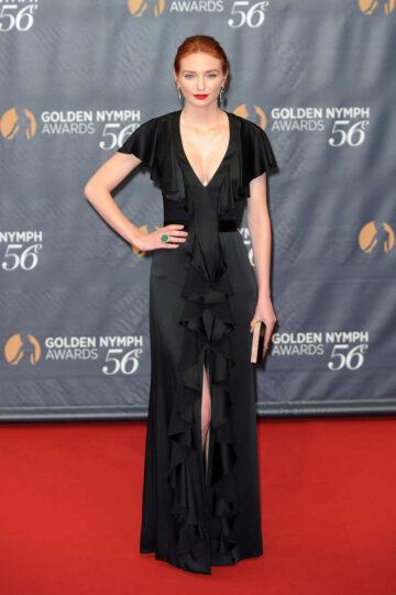 Eleanor Tomlinson 56th Monte Carlo Television Festival Closing Golden Nymph Awards Monaco