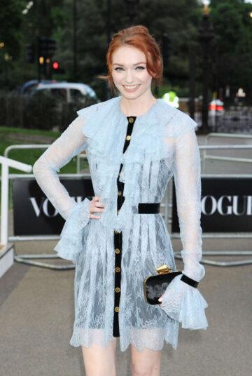 Eleanor Tomlinson Vogue 100th Anniversary Gala Dinner London