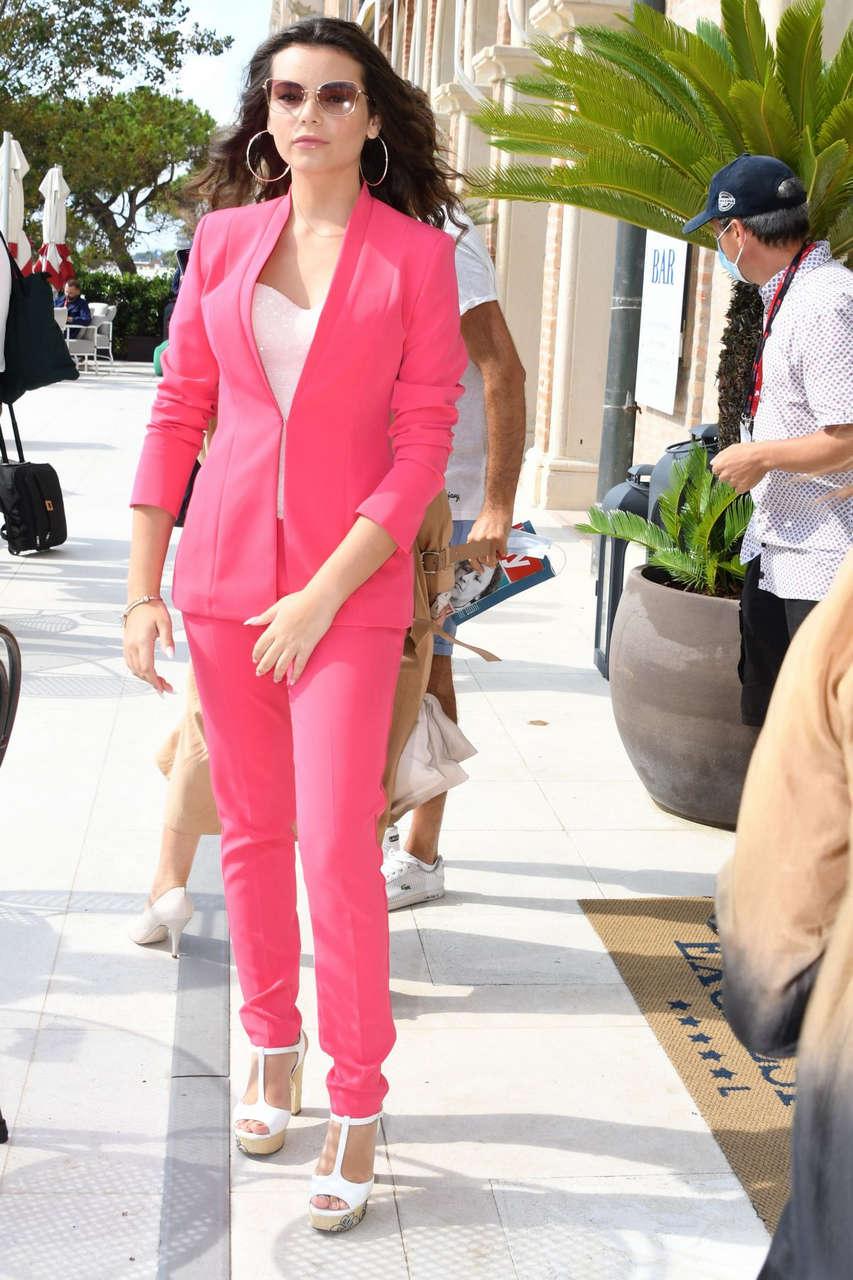 Eleonora Gaggero Arrives Hotel Excelsior Venice