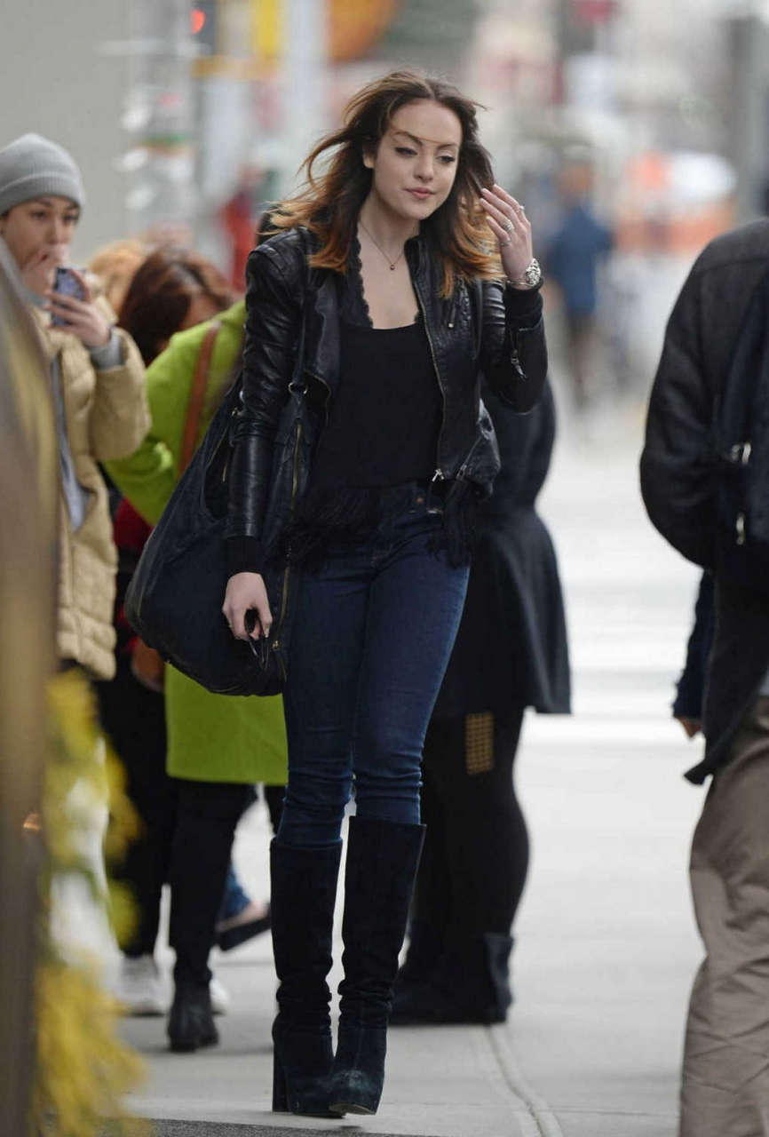 Elizabeth Gillies Out About New York