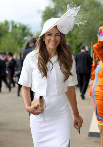 Elizabeth Hurley 2016 Royal Ascot Meeting Ascot Racecourse Berkshire