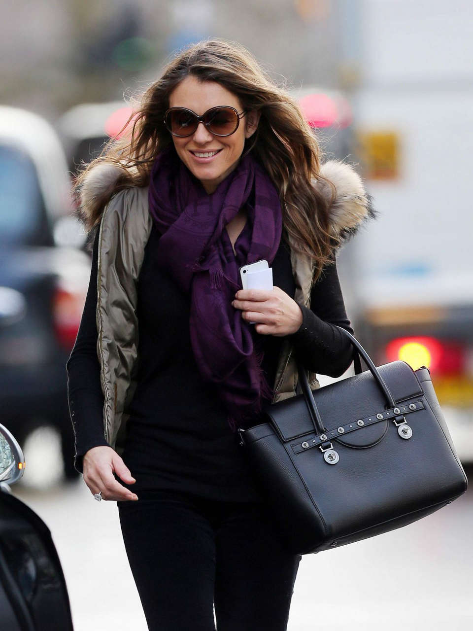 Elizabeth Hurley Out About London