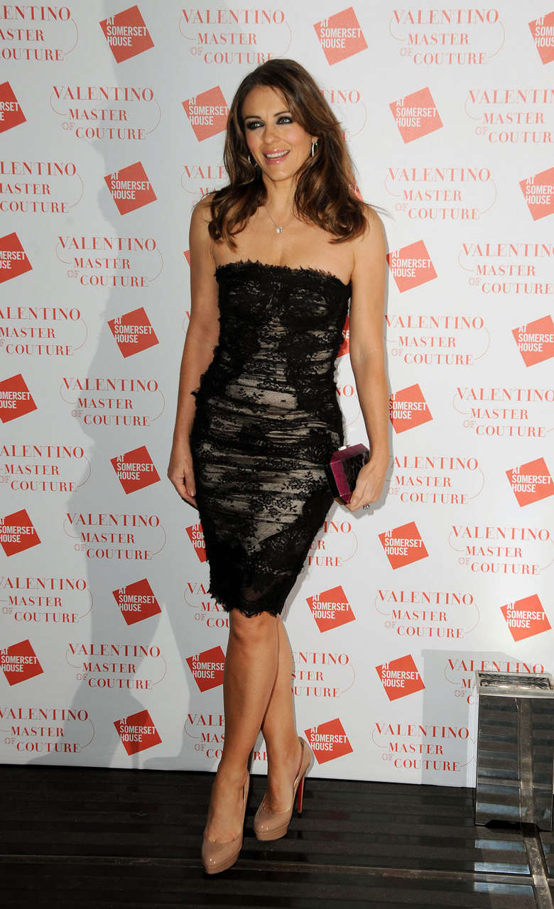 Elizabeth Hurley Valentino Master Couture Vip View London