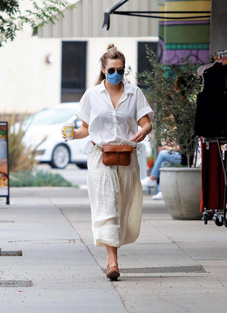Elizabeth Olsen Heading To Alfred Coffee Los Angeles
