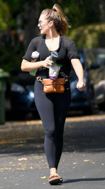 Elizabeth Olsen Leaves Private Gym Sherman Oaks