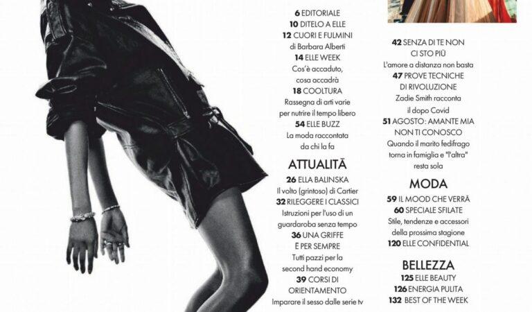 Ella Balinska Elle Magazine Italy August (4 photos)