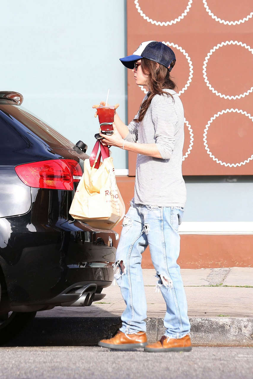 Ellen Page Out About West Hollywood