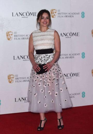 Emilia Clarke Bbafta Lancome Nominees Party