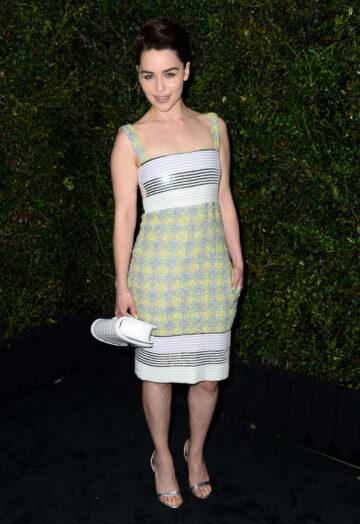 Emilia Clarke Chanel Charles Finch Pre Oscar Dinner Los Angeles