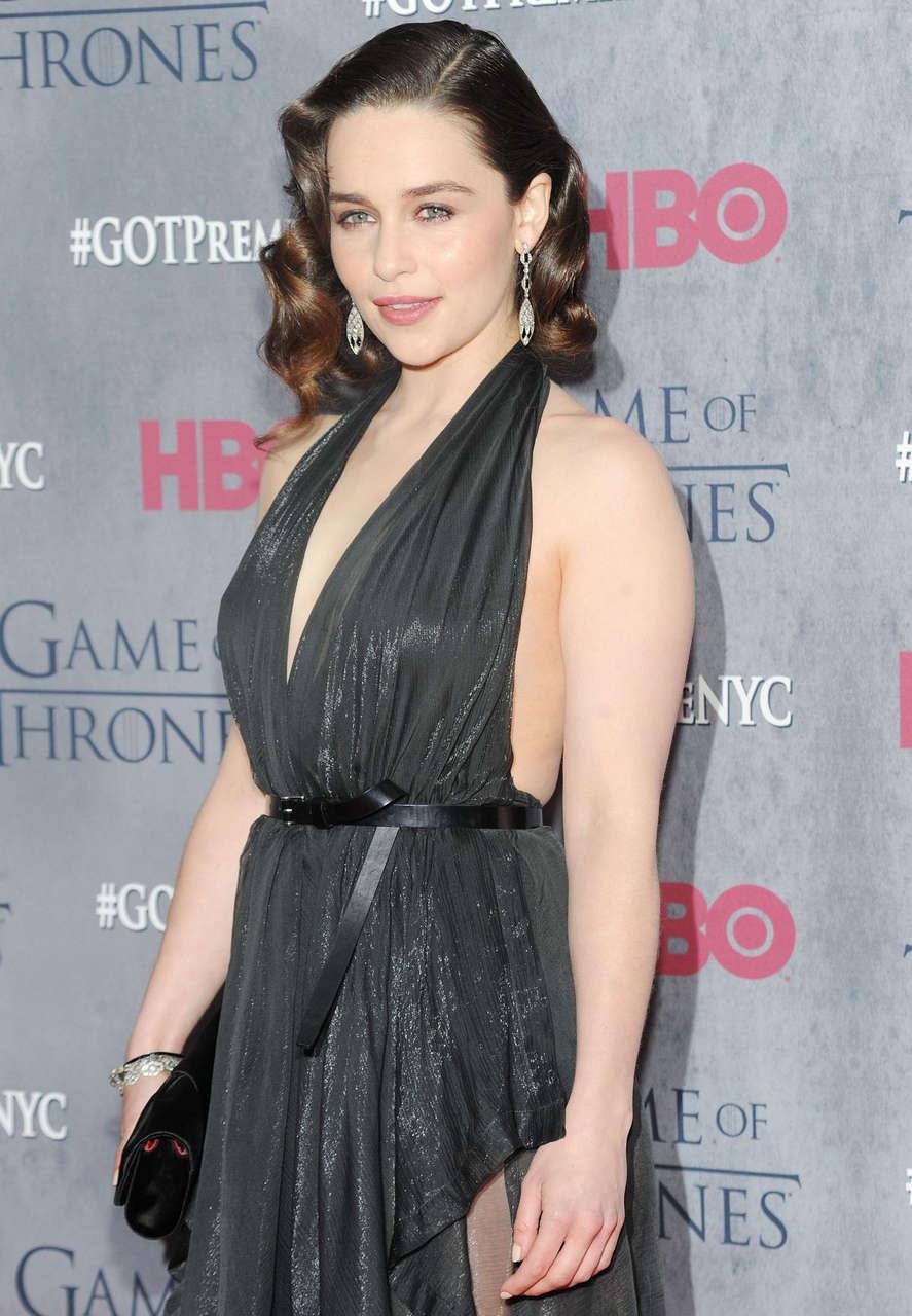 Emilia Clarke Game Thrones Fourth Season Premiere New York