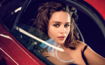 Emilia Clarke Inside The Car