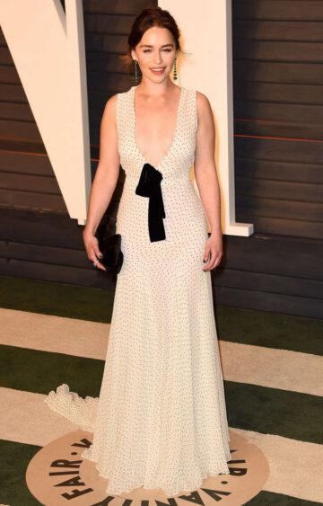 Emilia Clarke Vanity Fair Oscar 2016 Party Beverly Hills