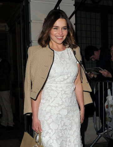 Emilia Clarke Weinstein Grey Goose Pre Baftas Dinner London