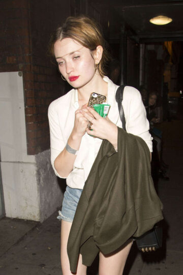 Emily Browning Arrives Nick Grimshaws Birthday Party London