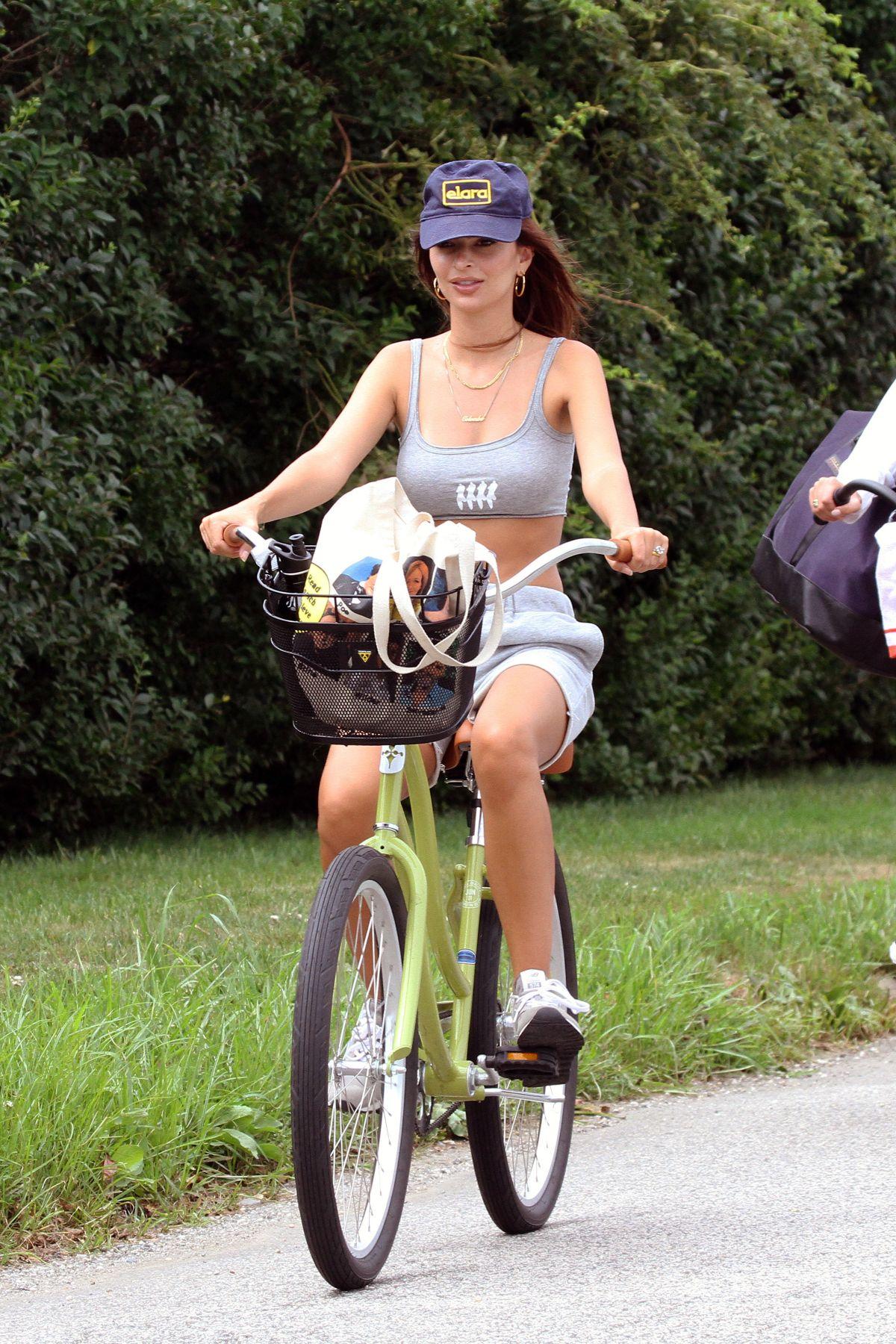 Emily Ratajkowski Bike Ride Hamptons
