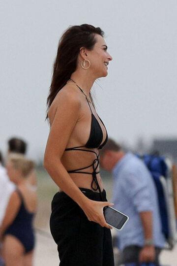 Emily Ratajkowski Bikini Top Beach Hamptons